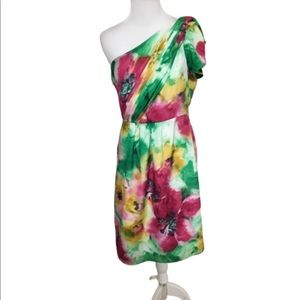 MM Couture One Shoulder Multicolored Dress Medium
